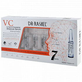 امبولات فيتامين سي من دكتور راشيل DR RASHEL VITAMIN C AMPOULE + NICOTINAMIDE