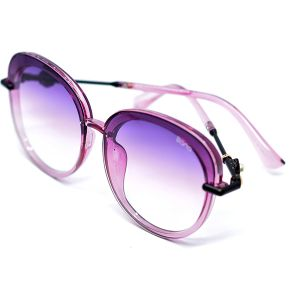 نظارة شمسية دائرية للنساء R544 من Bana -بنفسجي-بالدرزن