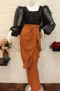 فستان نسائي خامة تركي اسبور ناعم طويل خامه كريب