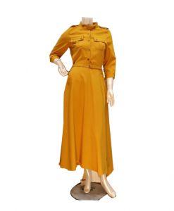 فستان اسبور ناعم (كم طويل)-برتقالي (4حبات)