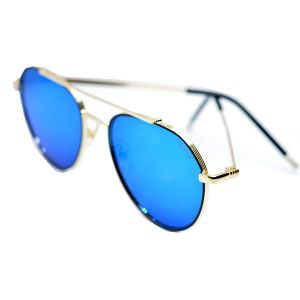 نظارة شمسية دائرية رجالي R3455-ازرق-بالدرزن