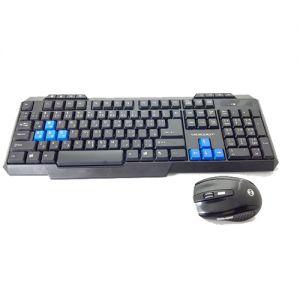 لوحة مفاتيح  لاسلكية مع ماوس MD301K من ميكروجيت -اسود
