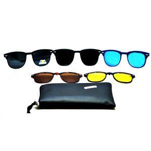 نظارة شفافة رجالية مع مجموعة واسعة من العدسات القابلة للتعديل R56 من بانا-بالدرزن