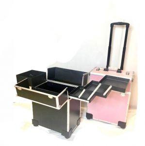 حقيبة فارغة لوضع المكياج متنقلة  بارفف وادراج