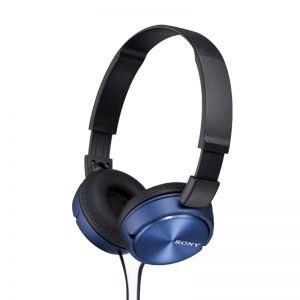سماعة سلكية ستيريو اكسترا باس MDR-ZX310/L من سوني-أزرق