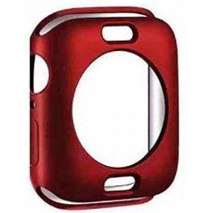 غطاء بلاستيك لساعة ابل وواتش--احمر