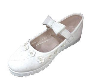 حذاء بناتي اطفال زهرة- أبيض