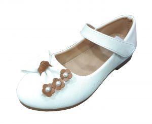 حذاء بناتي اطفال فراشة-ابيض