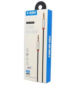 كيبل اوكس لتشغيل  الصوتيات KX-0-A12 1 1 متر -احمر