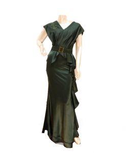 فستان اسبور ناعم (كم قصير)-اخضر (4حبات)