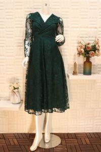 فستان نسائي اسبور ناعم اخضر