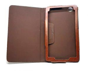 محفظة جلدية لجهاز سامسونج تاب  3,تاب 7-بني