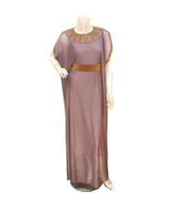 فستان اسبور ناعم (كم قصير)-بنفسجي (4حبات)
