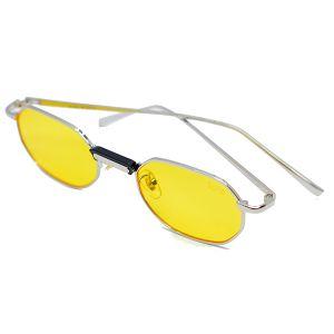 نظارة شمسية دائرية رجالي R3455-اصفر-بالدرزن