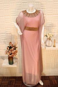 فستان نسائي اسبور ناعم طويل ,بحزام خصر ثابت