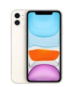 هاتف ابل ايفون 11 - ذاكرة 128 جيجا، رام 4 جيجا، 4G - أبيض