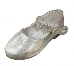 حذاء بناتي اطفال سادة-ذهبي لماع