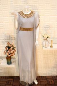 فستان نسائي اسبور ناعم طويل ,بحزام خصر ثابت سماوي