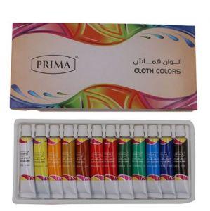 مجموعة ألوان قماش- 12 قطعة متعدد الألوان