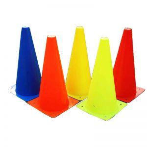 اقماع تمرين وتدريب ملونة مقاس كبير (4 حبات)