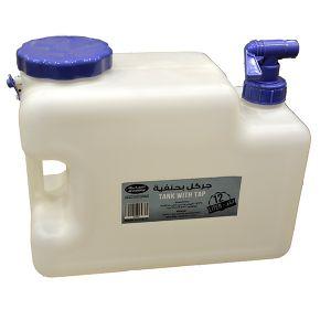 السنيدي جركل ماء بلاستيك ابيض مربع 15 لتر