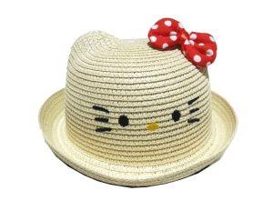 قبعة بناتي  منوع درزن  (12 قطعة(-بيج