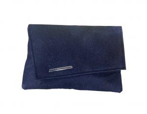 محفظة نسائية قماش لماع -أسود
