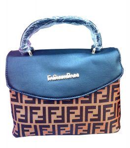 حقيبة يد نسائية تصميم كلاسيكي لوني بني