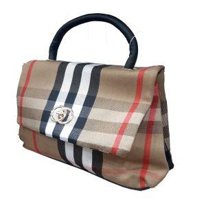 حقيبة يد نسائية تصميم عصري لون بيج
