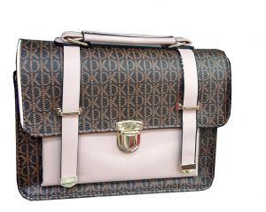 حقيبة يد نسائية تصميم عصري لون بني