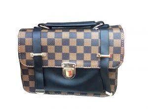 حقيبة يد نسائية تصميم عصري لون بني بحزام