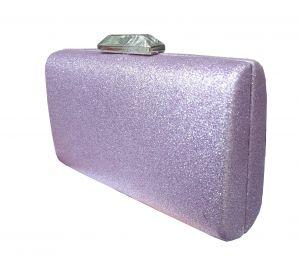 محفظة يد نسائية  بوليستر تصميم عصري لون بنفسجي
