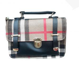 حقيبة يد نسائية تصميم عصري لون بيج اسود