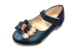 حذاء بناتي اطفال فراشة-أسود