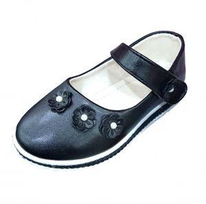 حذاء بناتي اطفال -وردة-أسود