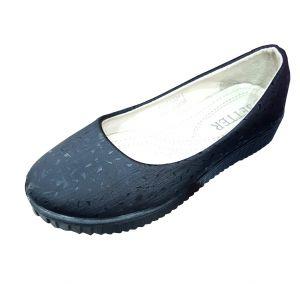 حذاء بناتي اطفال سادة-أسود