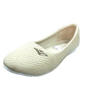 حذاء بناتي اطفال سادة-بيج