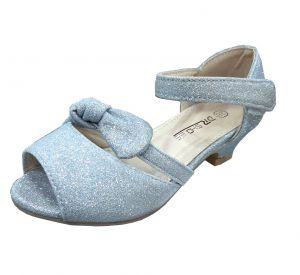 حذاء بناتي كعب-سماوي
