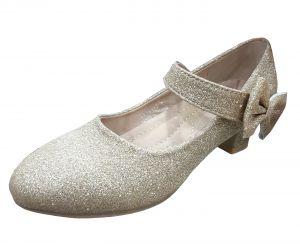 حذاء بناتي كعب-ذهبي