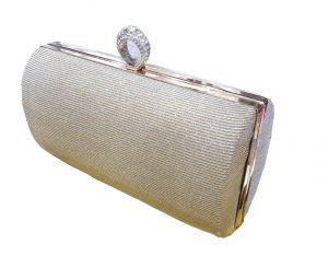 محفظة نسائية  قفل باللون البيج