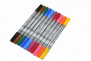 أقلام تلوين ذو الريشتين فلوماستر - 10 أقلام