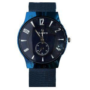 ساعة يد رجالي من كلاسيكو  ازرق -بالدرزن