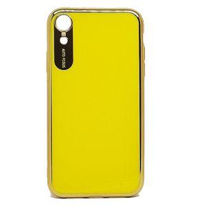كفرات خلفية لماعة لهواتف الايفون-اصفر