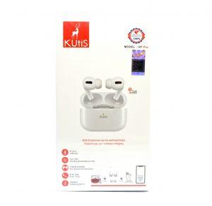 سماعة لاسلكية ايربودز برو I47 Pro من كيوتيس kutis ضمان سنتين-أبيض
