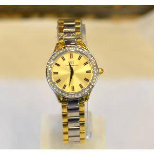 بلاك دايموند ساعة يد نسائي ستانليس ستيل -ذهبي