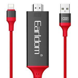 كيبل HDMI لهواتف الايفون ET-W5 من ايرلدوم ضمان سنتين-احمر-2 م