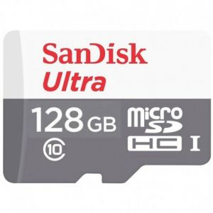 بطاقة الذاكرة الترا 128 قيقا من سانديسك مايكرو اس دي ضمان سنتين