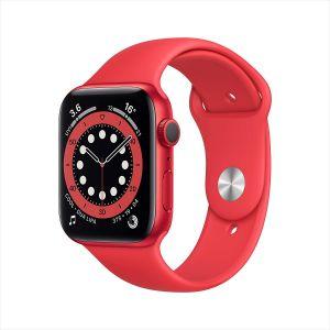 ساعة ابل واتش 6 ، 40 مم، هيكل احمر وسوار احمر