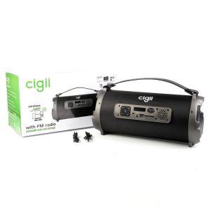 cigii سماعة بلوتوث محمولة خارجية الدعم راديو FM USB AUX لاسلكي