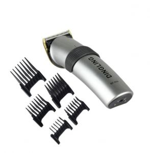 دينجلينج مكينة تشذيب الشعر المطلية بالكهرباء أسود و رمادي